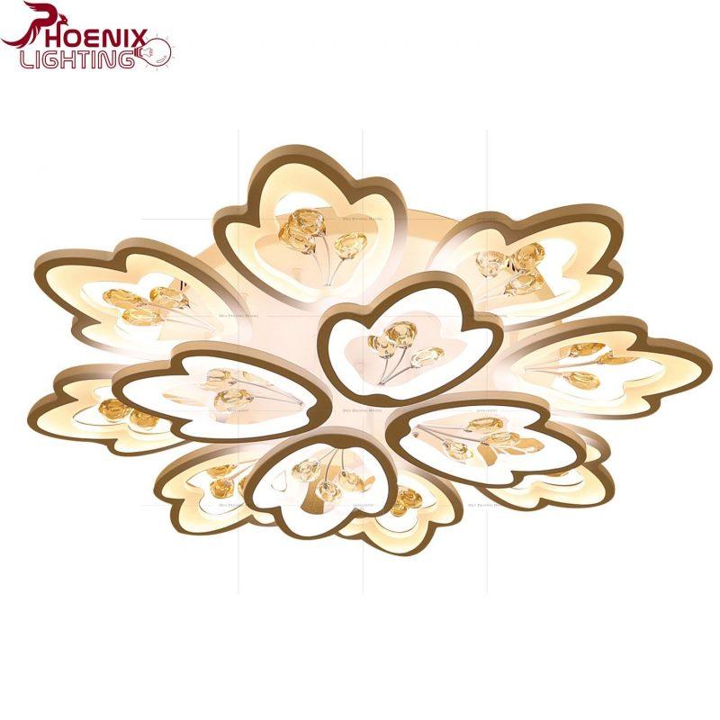 Đèn ốp trần hình bông hoa trang trí