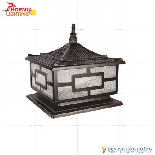 Đèn trụ cổng Phượng Hoàng Nhôm Đúc