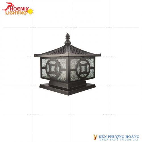 Đèn trụ cổng Phượng Hoàng Nhôm Đúc 6056