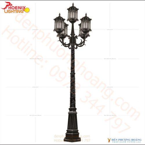 Đèn trụ sân vườn kiểu dáng hoàng cung