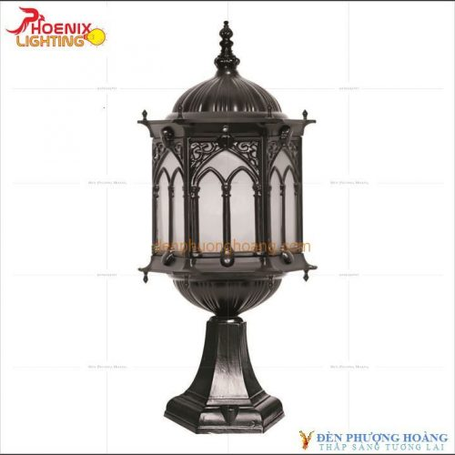 Mẫu đèn trụ cổng hoàng cung