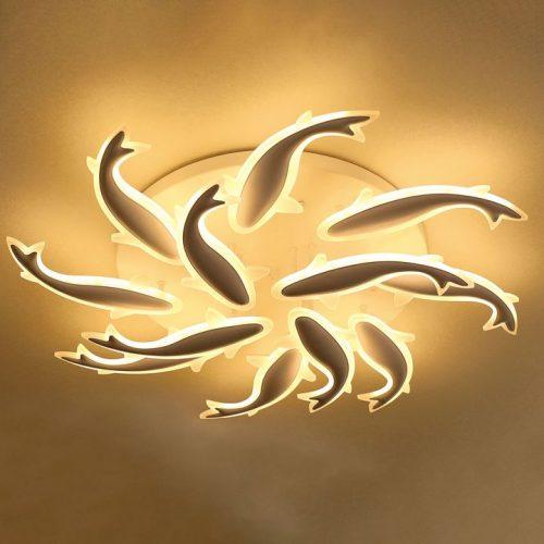 Đèn Ốp Trần Hình Cá Bơi Lội