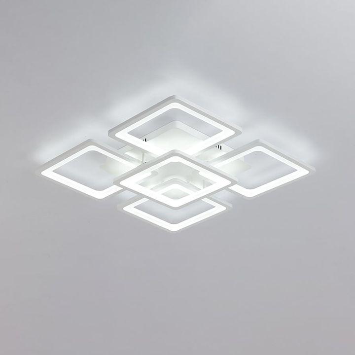 Đèn Ốp Trần Led 5 Ô Vuông