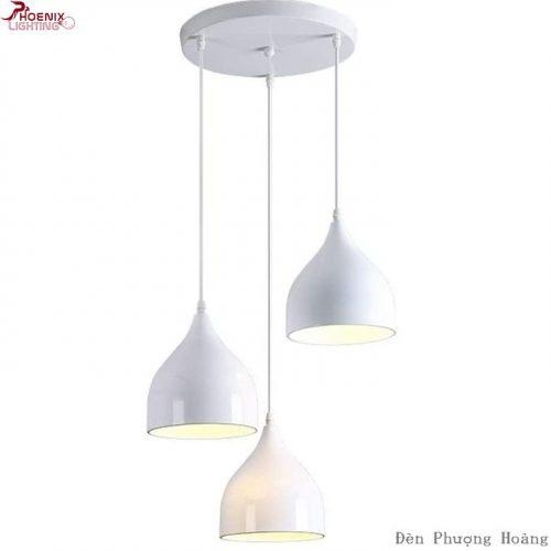 Đèn thả bàn ăn bộ ba hình giọt nước