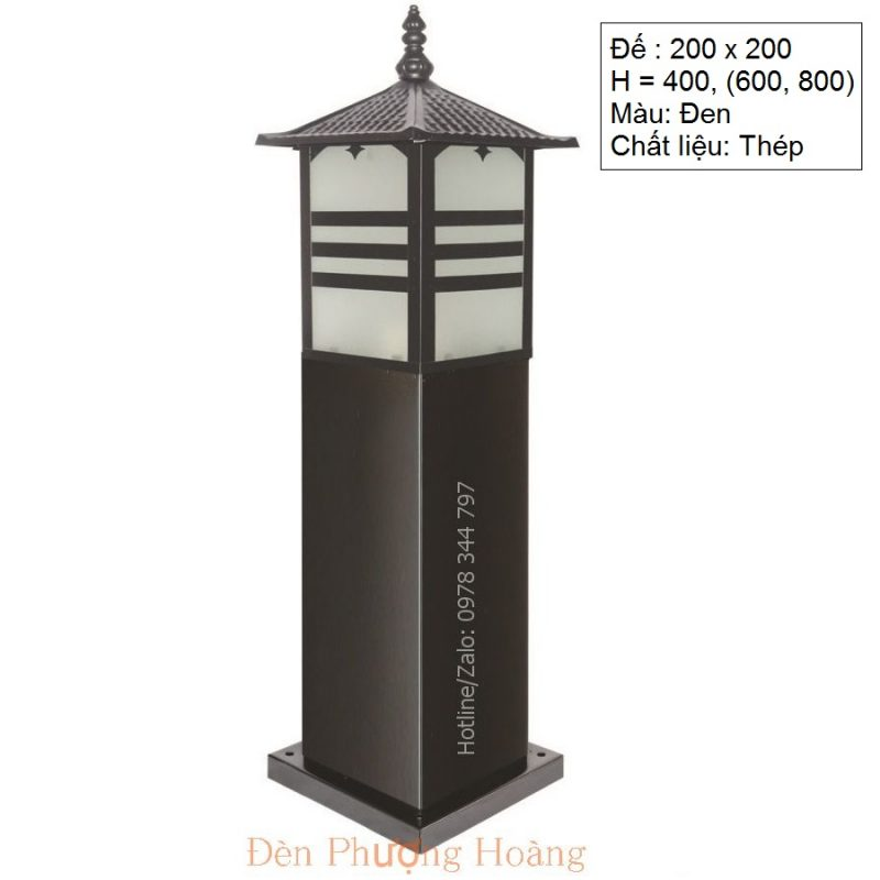 Đèn trụ công viên - đèn cảnh quan sân vườn