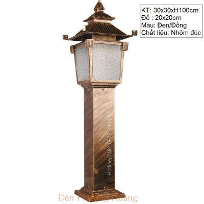 Đèn trụ công viên mái chùa cổ kính