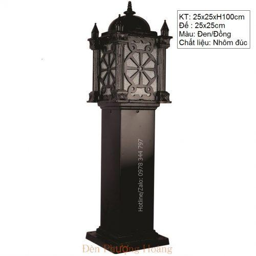 Đèn trụ cảnh quan sân vườn kiểu dáng lâu đài Châu Âu