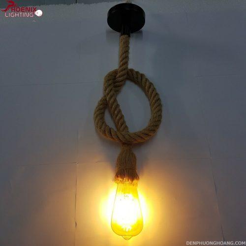 Đèn thả dây thừng trang trí độc đáo