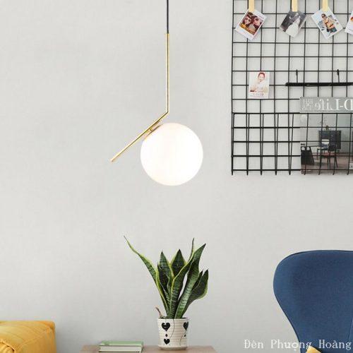 Đèn thả hình cầu trang trí không gian nội thất