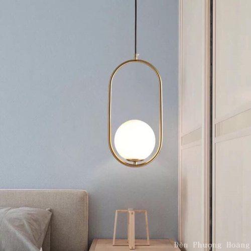 Đèn thả trang trí cầu thủy tinh đẹp (5)