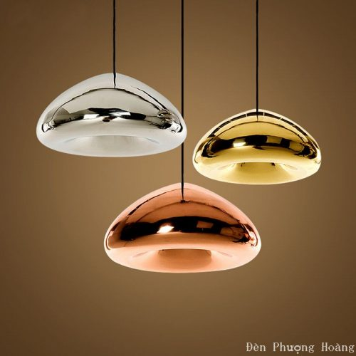 Đèn thả trang trí chao thủy tinh hình nấm