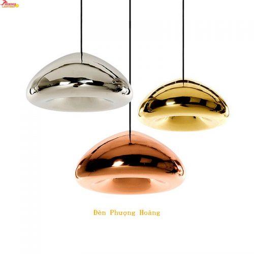 Đèn thả trang trí chao thủy tinh hình nấm mã THCN 197