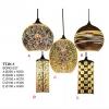 Đèn thả đèn trang trí căn hộ chao thủy tinh nhiều màu sắc