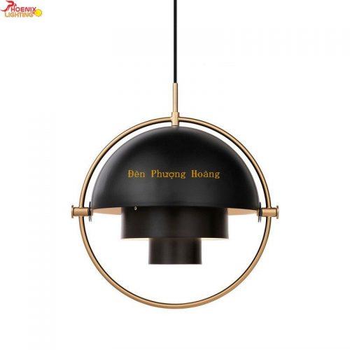Đèn thả hình cầu chỉnh góc trang trí phòng khách