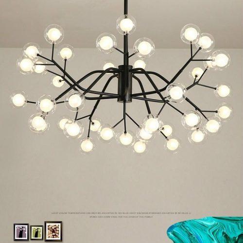 Đèn thả chùm bóng thủy tinh trang trí căn hộ siêu đẹp
