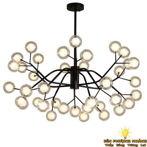 Đèn thả chùm bóng thủy tinh trang trí phòng khách siêu đẹp