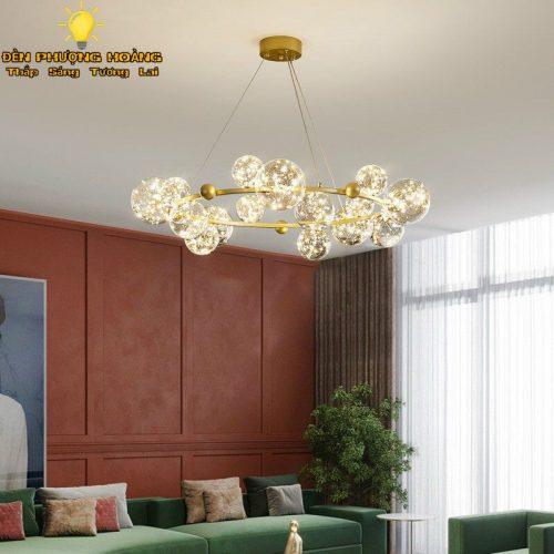 Đèn thả trang trí biệt thự villa siêu đẹp