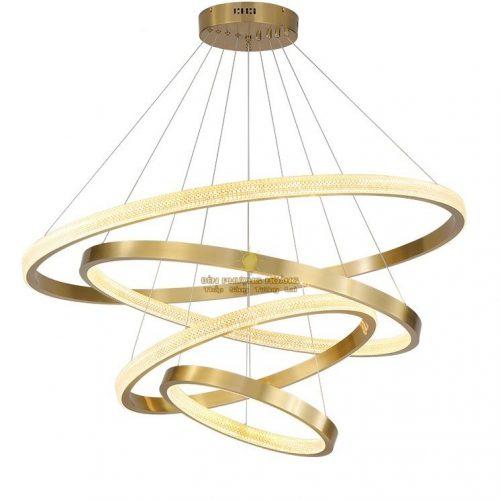 Đèn thả cao cấp bốn vòng led cực đẹp và sang trọng trang trí biệt thự