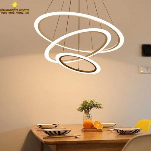 Đèn thả phòng khách ba chế độ sáng kiểu dáng hiện đại