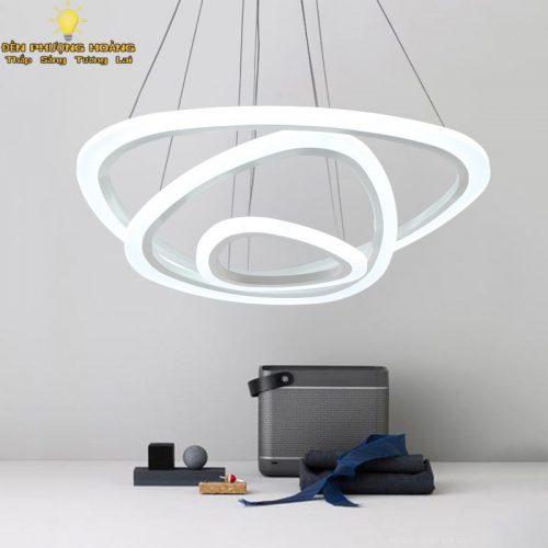 Đèn thả trang trí ba vòng tròn led cách điệu cực đẹp