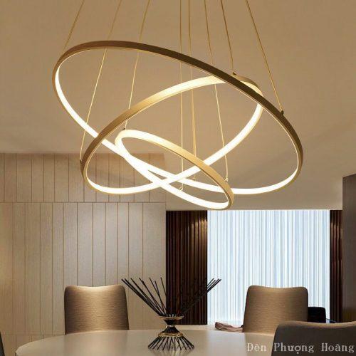 Đèn thả vòng tròn led trang trí phòng khách cực đẹp