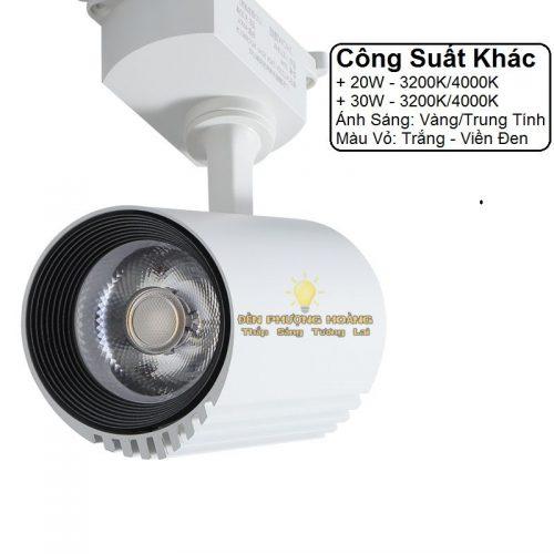 Đèn rọi ray COB cao cấp ánh sáng trung tính